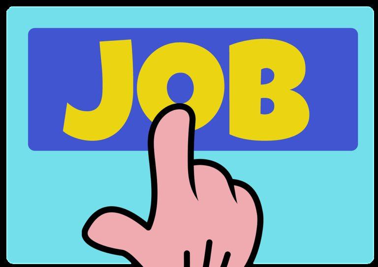 job search, application, hand