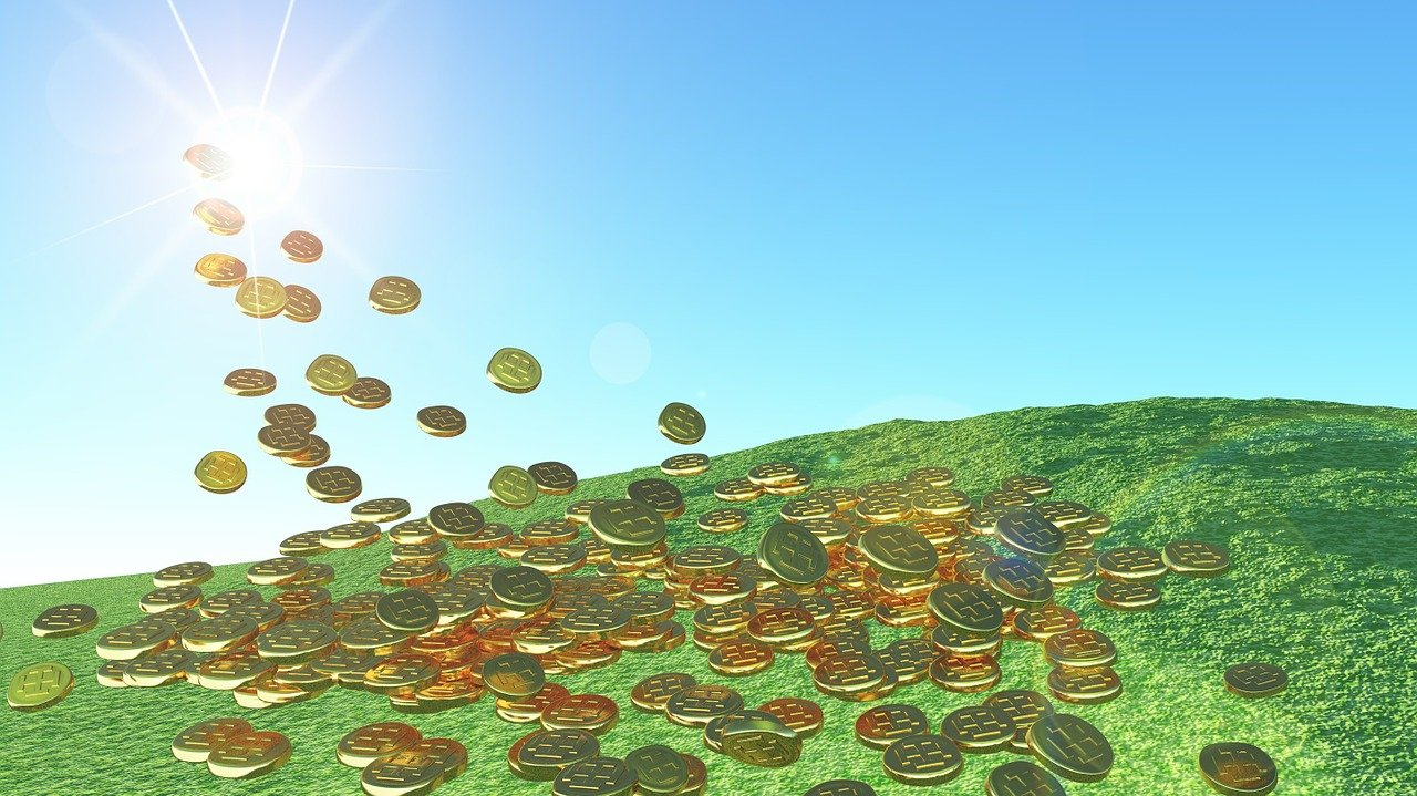 solar energy, gold coins, sunshine